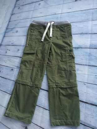 Mini Boden green cargo trousers with zip off legs age 6 (fits age 5-6)